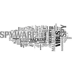 Spyware word cloud concept vector