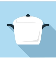 Square pan icon flat style vector