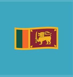 sri lanka flag icon in flat design vector image