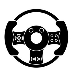 Steering wheel video game pictogram vector