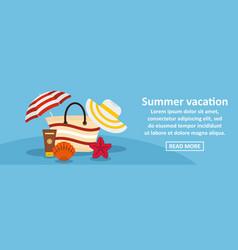 Summer vacation banner horizontal concept vector