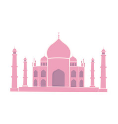 taj mahal indian landmark travel sticker isolated vector image
