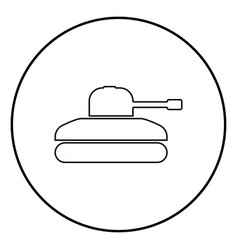 tank icon black color simple image vector image