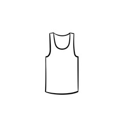 Tank top hand drawn sketch icon vector