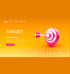 target location landing page banner business 3d vector image