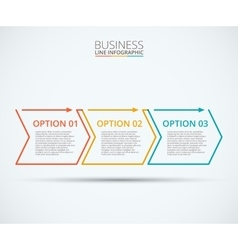 Thin line flat elements for infographic vector image vector image