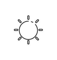 Thin line sunny icon vector