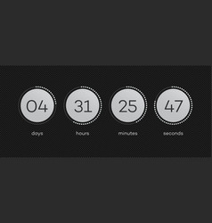 Time remaining with circle coutdown vector