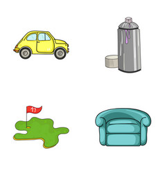 Transport golf and other web icon in cartoon vector