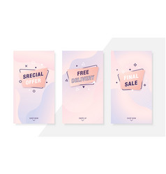 trendy fluid mobile sale banners special offer vector image