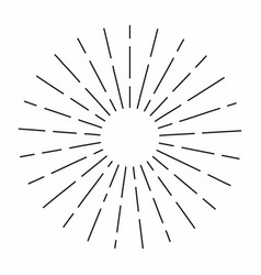 vintage sunburst in lines shape linear radial vector image