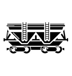 wagon icon simple style vector image