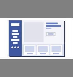 website flat design wireframes layout web vector image