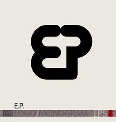 EP logo monogram vector image