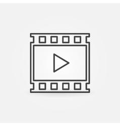 Video linear icon vector image