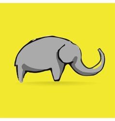 Abstract elephant logotype isolated on yellow vector image vector image