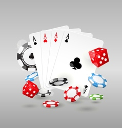 Gambling and casino symbols - poker chips vector image vector image