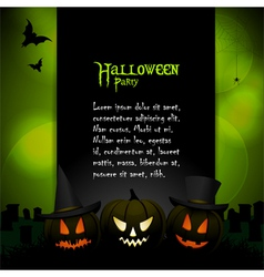 Halloween background with sample text vector image vector image