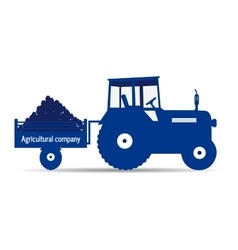 logo tractor agricultural company vector image