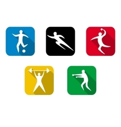 Set of sports games Athletes involved in sports vector image