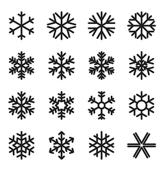 Simple snowflake icons vector