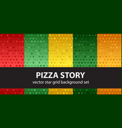 star pattern set pizza story seamless vector image