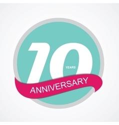 Template Logo 10 Anniversary vector image