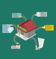 The Banks work Infographics banking vector image vector image