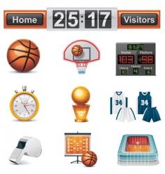 vector basketball icon set vector image vector image
