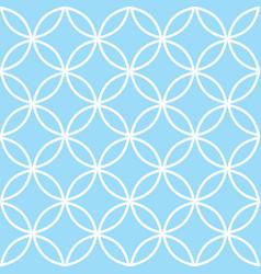 geometric seamless pattern in pastel blue modern vector image
