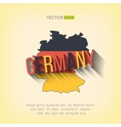 germany map in flat design German border vector image