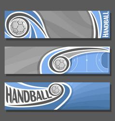 horizontal banners for handball vector image vector image