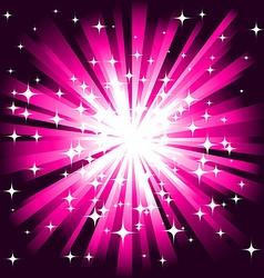 magic firework background vector image