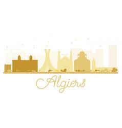 algiers city skyline golden silhouette vector image vector image