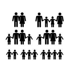 Family icons vector image vector image