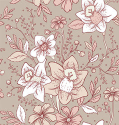 flowers pattern seam vector image vector image