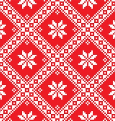 Seamless Ukrainian Slavic folk art red embroidery vector image vector image
