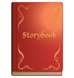 Storybook with red covers vector image vector image