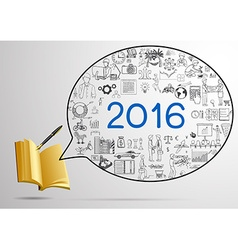 2016 a year plan design vector image