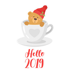 2019 new year card vector