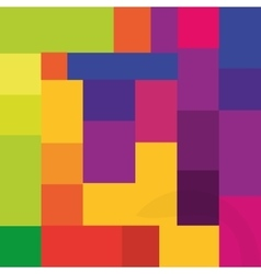 abstract square pattern background design vector image