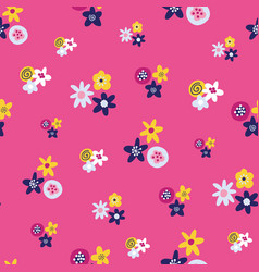 abstract summer florals seamless background vector image