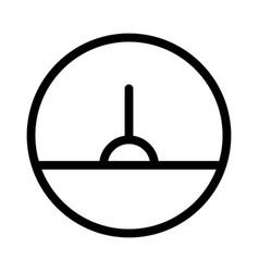analog gauge meter for speed test measurement vector image