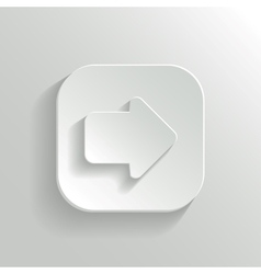 Arrow icon - white app button vector