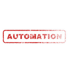 Automation rubber stamp vector