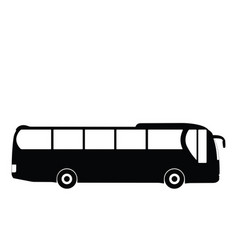 Black silhouette on a bus vector