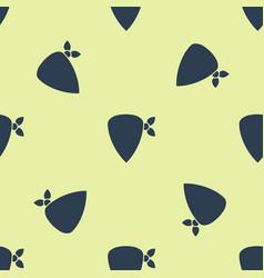 Blue cowboy bandana icon isolated seamless pattern vector