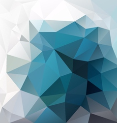 Blue turquoise abstract polygon triangular pattern vector