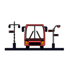 bus traffic light arrows sign vector image