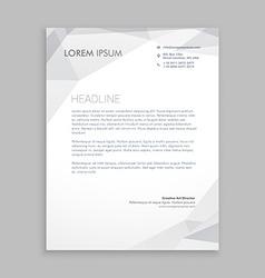 Business letterhead card vector